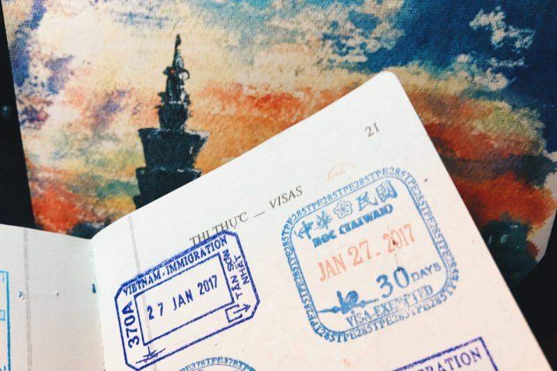 xin visa điện tử Đài Loan 1