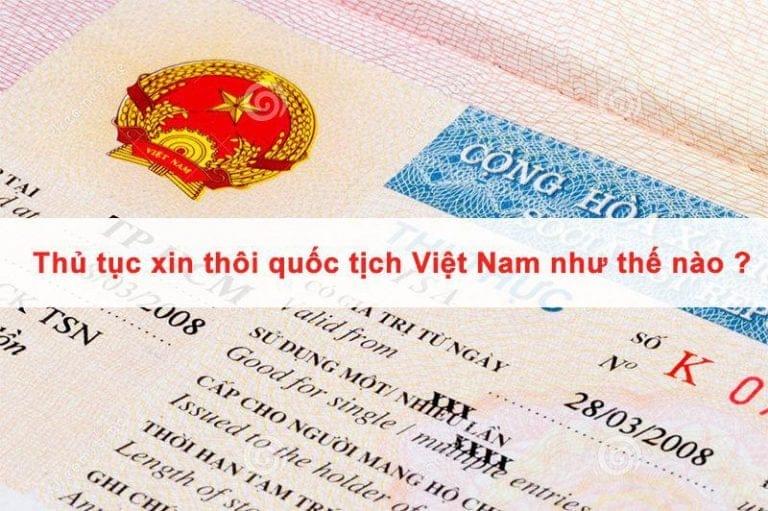 Hồ sơ xin thôi quốc tịch Việt Nam tại Hàn Quốc
