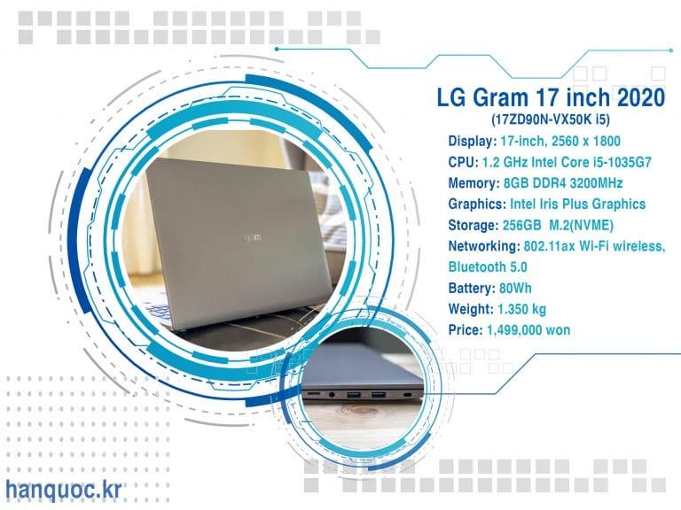 [Review] Lg Gram 2020 17inch (Bản Core I5)